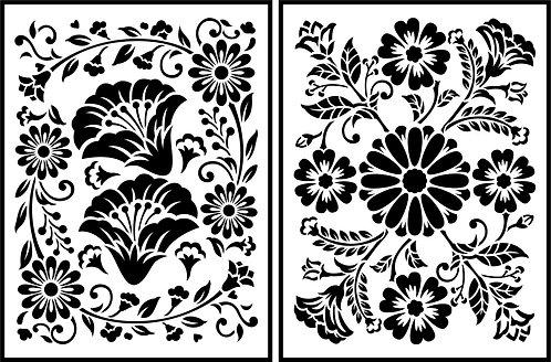 Schablone Folkflorico Flora