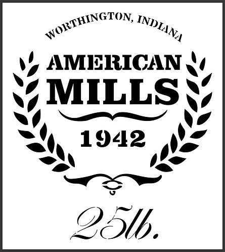 Schablone American Mills