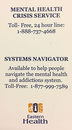 doorways, door ways, walk in counselling clinic, eastern health, mental health and addictions, mental health crisis, systems navigator, toll free