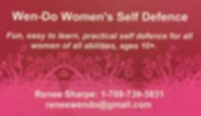 wen-do, women's self defence, renee sharpe, sefl defence, wendo, self defense