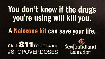 naloxone kit, swap, overdoses, 811, newfoundland and labador