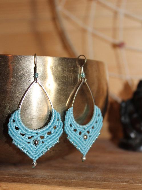 Boucles d'oreilles Gaia Bleu Doux