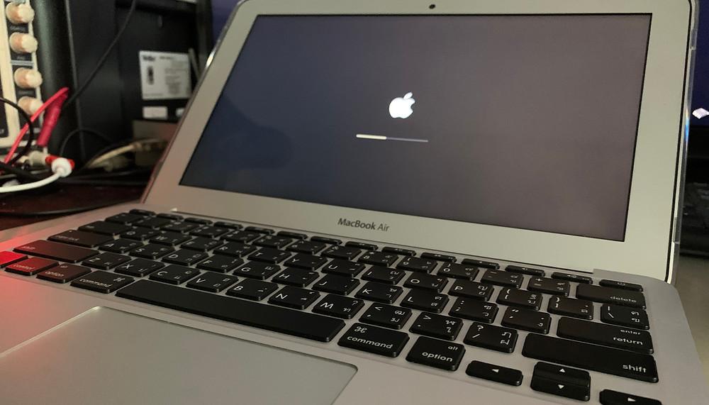 ทดสอบเครื่องหลังงานซ่อม Macbook Air รุ่น A1465 11นิ้ว ปี2015 เปิดไม่ติด สามารถเปิดติดขึ้นภาพได้ปกติ