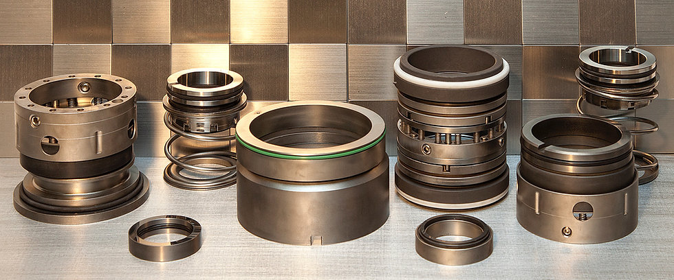 Photograph of mechanical seals at WRES Ltd.