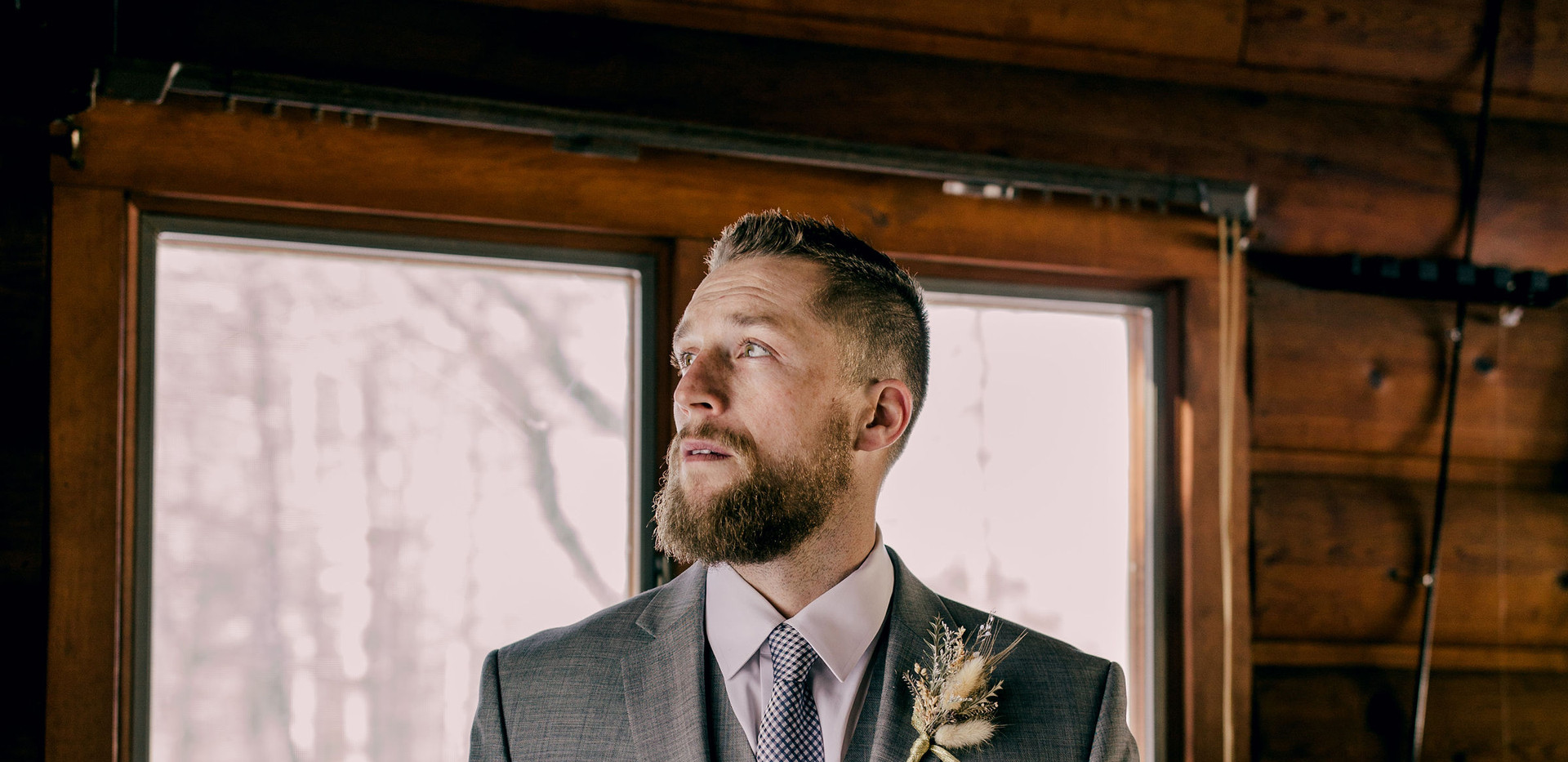 Groom in Family Cabin