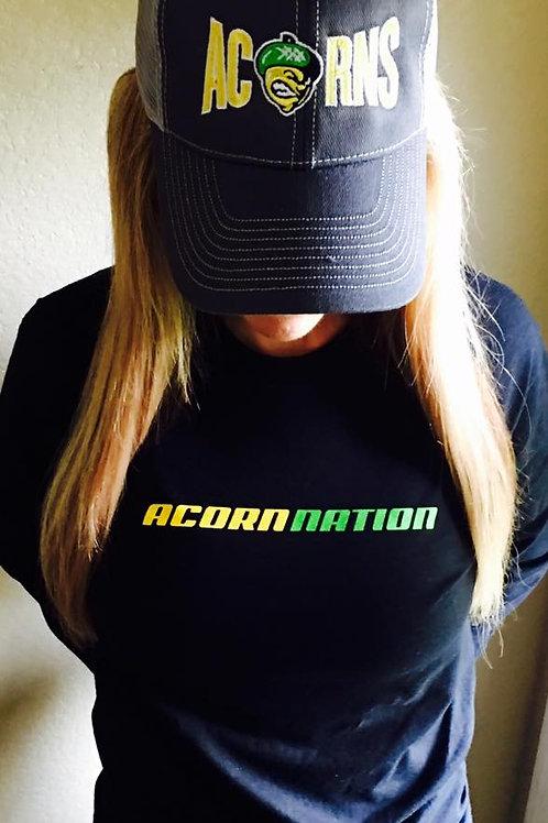 Black Acorn Nation Long Sleeve Tshirt