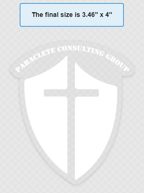 Paraclete Consulting Group White Transfer Sticker