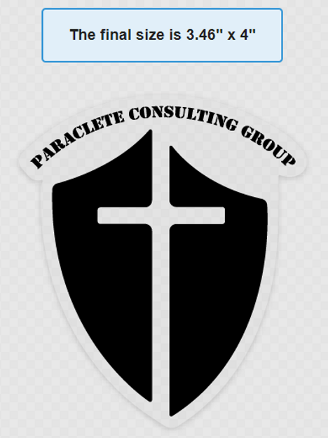 Paraclete Consulting Group Black Transfer Sticker