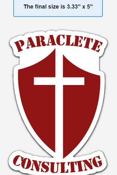 Paraclete Consulting Group Blood Red Shield Sticker