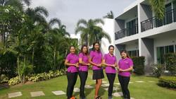 Service by friendly staff