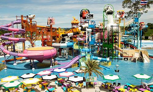 Cartoon Network Waterpark near the Serenity Resort Private Villa in Pattaya