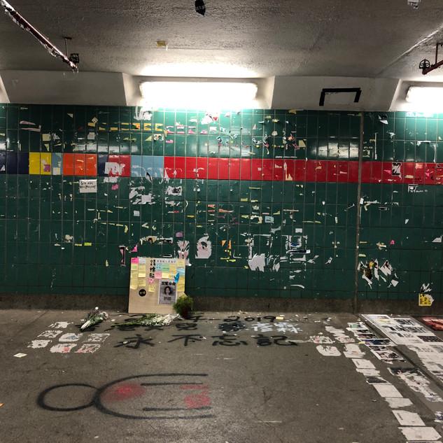 Tai Po Lennon Tunnel on 2 Nov 2019