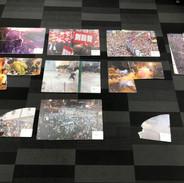 Broken photographies on Sai Wan Hoi bridge