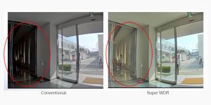 Nếu camera hướng về phía cửa ra vào của một tòa nhà, nó sẽ tự động phát hiện khuôn mặt và làm trắng phần ảnh này.