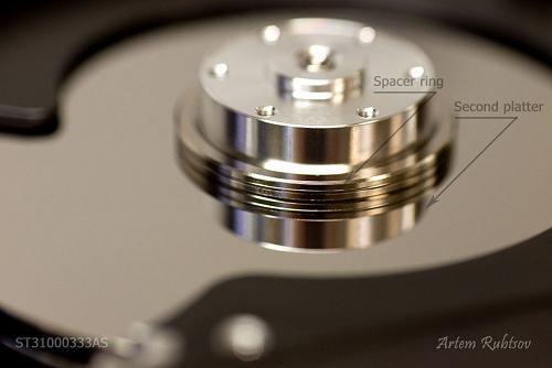 Vòng đệm (spacer ring) được đặt ở giữa mỗi đĩa từ để tạo khoảng trống cho đầu từ di chuyển.
