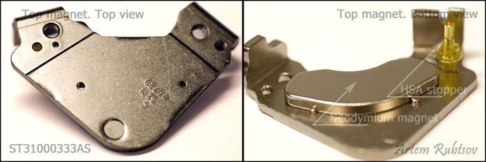 Các HDD sử dụng nam châm Neodymi, loại nam châm vĩnh cửu (permanent magnet) mạnh nhất hiện nay.