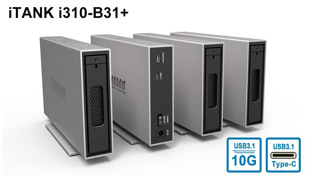 Stardom i310-B31+: Bộ lưu trữ 1-khay HDD/SSD 2.5''/3.5'' USB 3.1 Gen 2.