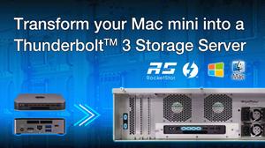 HighPoint RocketStor 6674T: Giải pháp máy chủ RAID Thunderbolt 3 cho hệ thống nhỏ gọn.