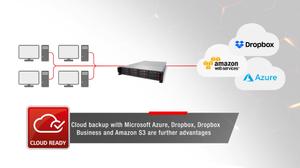 Máy chủ NAS TeraStation 5010 còn hỗ trợ các dịch vụ sao lưu đám mây lai như Microsoft Azure, OneDrive, Dropbox / Dropbox Business và Amazon S3.