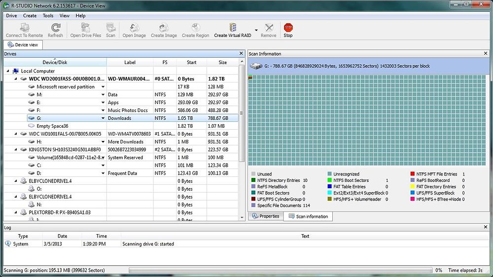 R-Tools R-Studio - Network/Technician (Windows) là giải pháp cứu dữ liệu toàn diện cho những phân vùng chứa hệ thống tập tin NTFS, NTFS5, ReFS, FAT12/16/32, exFAT (Windows); HFS/HFS+, APFS (Mac)...