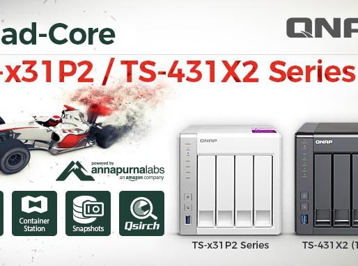 QNAP TS-x31P2 và TS-431X2: Máy chủ NAS cho doanh nghiệp vừa & nhỏ