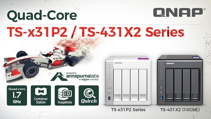 QNAP TS-x31P2 và TS-431X2: Máy chủ NAS cho doanh nghiệp vừa & nhỏ.