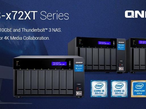 QNAP TVS-x72XT: Dòng máy chủ NAS 10GBASE-T và Thunderbolt 3