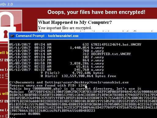 Cứu dữ liệu máy tính nhiễm ransomware WannaCry bằng công cụ Wanakiwi