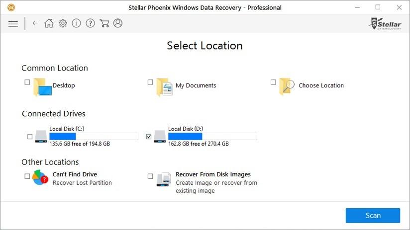 Stellar Phoenix Windows Data Recovery - Professional giúp người dùng doanh nghiệp tự khôi phục những tập tin và thư mục đã xóa, phân vùng bị mất/lỗi/hỏng và thậm chí HDD đã bị format do vô ý.