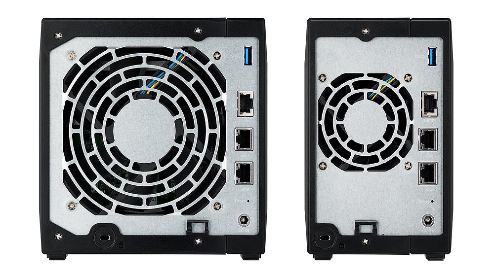 Cả hai NAS đều có một cổng 10 GbE và hai cổng 1 GbE, tạo ra môi trường mạng tốc độ cao nhanh gấp 10 lần so với mạng Gigabit.