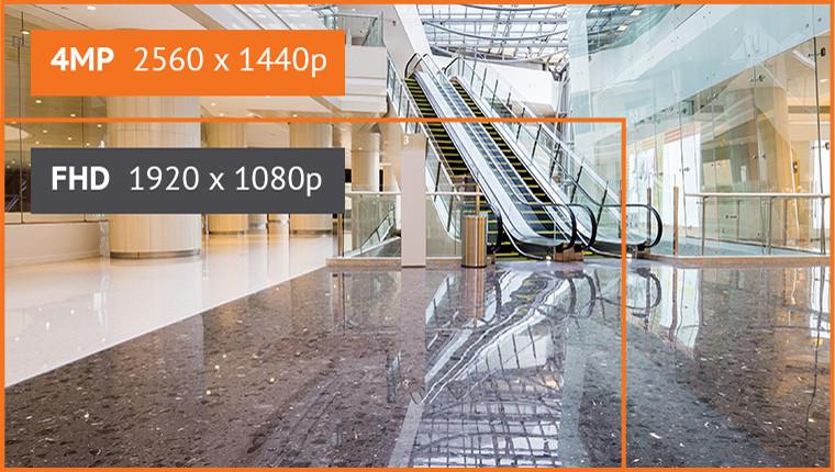 Camera QNE-6080RV(W) và QNE-7080RV(W) sở hữu độ phân giải lần lượt là 2MP (FHD) và 4MP.