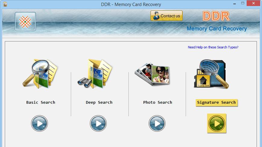 DDR - Memory Card Recovery: Phần mềm cứu dữ liệu thẻ nhớ đòi format.