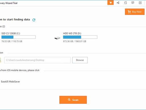 Cơ hội sở hữu phần mềm cứu dữ liệu bản quyền EaseUS Data Recovery Wizard Pro