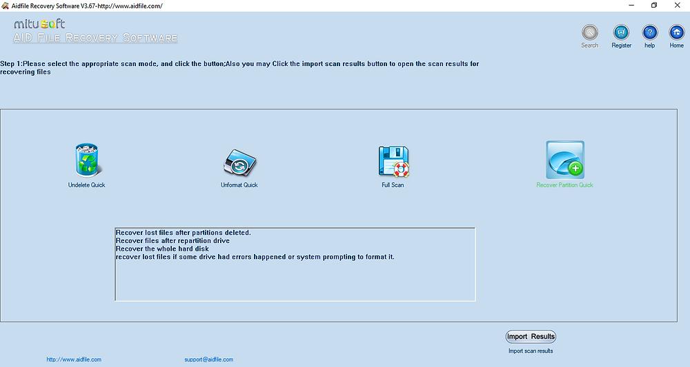 Mitusoft ra mắt phần mềm cứu dữ liệu ổ cứng Aidfile Recovery Software.