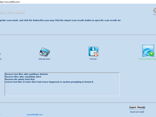 Aidfile Recovery Software: Phần mềm cứu dữ liệu ổ cứng không nhận