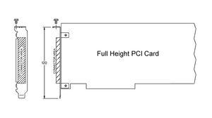 Card full-height ban đầu được quy định bởi chiều cao của bracket là 120 mm (4,724 inch).
