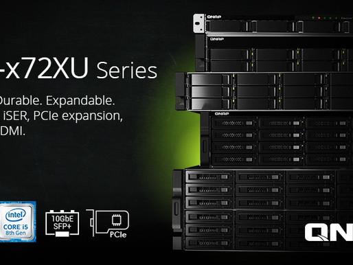 QNAP TVS-x72XU: Máy chủ NAS dạng rack  tích hợp CPU Intel thế hệ thứ 8