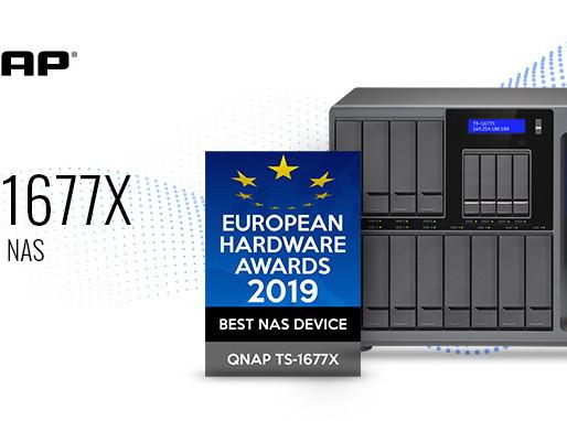 QNAP TS-1677X đoạt giải thiết bị NAS tốt nhất tại European Hardware Awards 2019