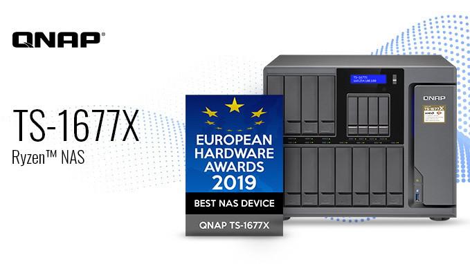 QNAP TS-1677X đoạt giải thiết bị NAS tốt nhất tại European Hardware Awards 2019.