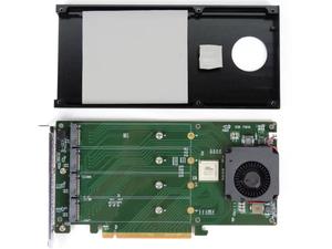 HighPoint SSD7101B giải quyết vấn đề nhiệt độ bằng cách sử dụng một quạt làm mát nhỏ để tăng cường thoát nhiệt cho các SSD M.2. Card này hỗ trợ hai dạng ổ đĩa, kích cỡ 2280 và 22110.