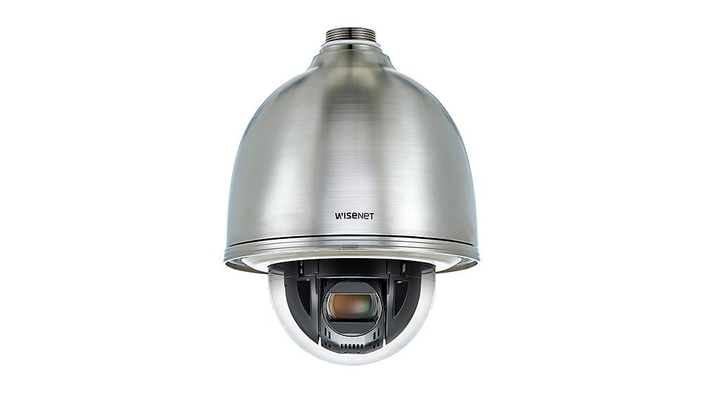 Wisenet XNP-6320HS: Camera dome thép không gỉ IP PTZ 32x 2MP.