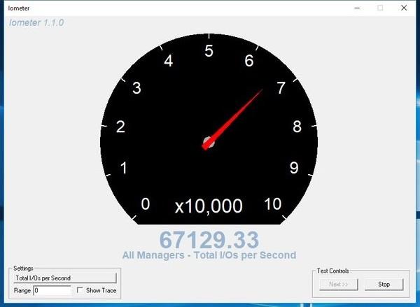 Kết quả tốc độ ghi tuần tự tính theo IOPS.