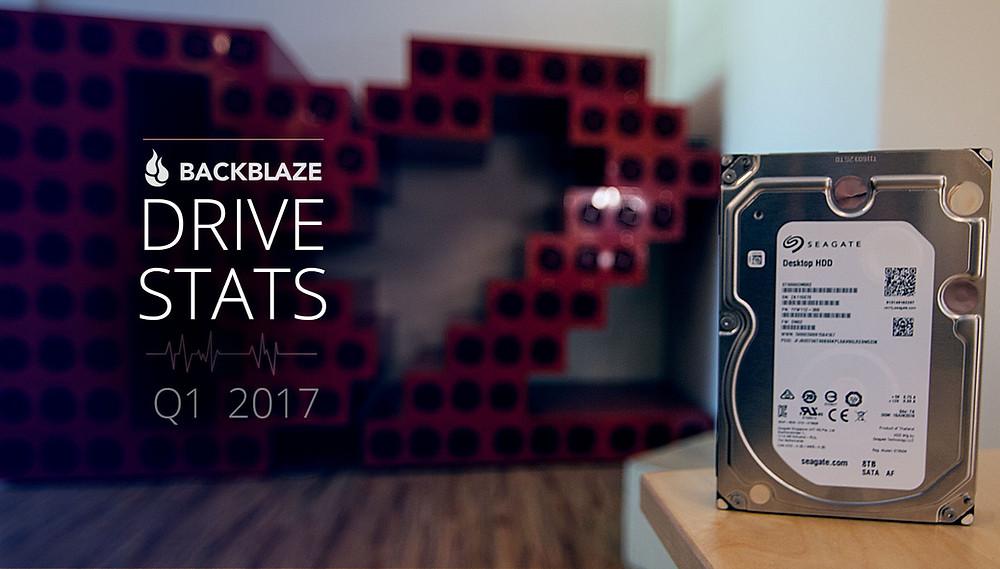 Backblaze cập nhật tỷ lệ hỏng ổ cứng trong quý 1 năm 2017.