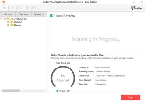 """Phần mềm này sẽ bắt đầu quét và tìm kiếm dữ liệu đã xóa. Bạn có thể xem trước tập tin trong quá trình quét, chỉ cần click vào tùy chọn """"Turn On Preview""""."""