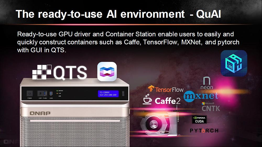 TS-2888X sở hữu một môi trường phần mềm toàn diện để các tổ chức dễ dàng thiết lập và bảo dưỡng những ứng dụng AI.