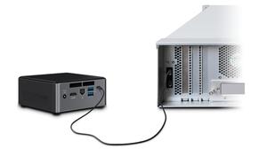 Người dùng có thể bổ sung thêm 224TB dung lượng lưu trữ, với tùy chọn RAID 5 dự phòng hoặc RAID 0 tốc độ cao, cho bất kỳ nền tảng tính toán nhỏ gọn nào có cổng Thunderbolt 3.