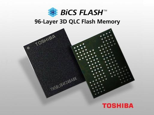 Toshiba Memory phát triển bộ nhớ flash BiCS 96 lớp bằng công nghệ QLC