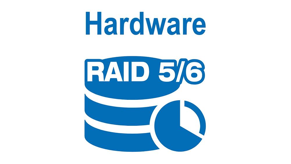 RAID 5 và RAID 6 cứng bảo vệ cấu hình lưu trữ trong trường hợp hỏng 1 hoặc 2 ổ đĩa (tương ứng).