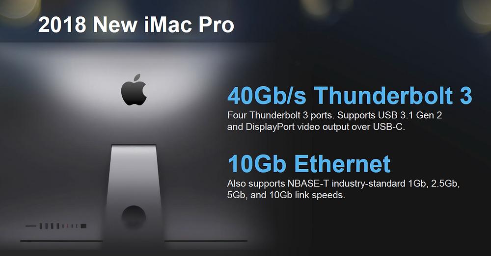 Dòng TVS-x72XT là một hệ thống lưu trữ hiếm có dành cho người dùng iMac Pro, bởi họ có thể lựa chọn linh hoạt giữa kết nối Thunderbolt 3 và 10 GbE.