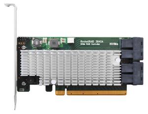 HighPoint RocketRAID 3840A: Bộ điều khiển RAID NVMe PCIe 3.0 x16 hiệu năng cực cao; hỗ trợ RAID 0, RAID 1, RAID 5 & JBOD.